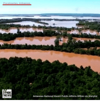 Memes, News, and Pocahontas: Pocahontas, Arkansas  FOX  NEWS  Arkansas National Guard Public Affairs office via Storyful Aerial footage shows flooding in Arkansas after torrential rains overflowed rivers and local towns this week.