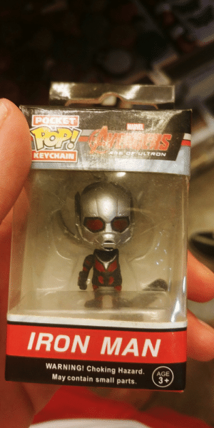 I don't even know who you are.: POCKET  MARVEL  FOP!  GORDEULTRON  KEYCHAIN  IRON MAN  WARNING! Choking Hazard.  AGE  May contain small parts.  3+ I don't even know who you are.