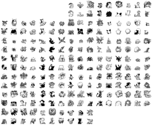 Nintendo, Pokemon, and Target: pocketfantasy:Leaked battle sprites from the 1997 beta of Pokemon 2: Gold and Silver that was featured at Space World, a Nintendo gaming trade show. These sprites showcase several scrapped preevolutions and evolutions for preexisting lines, as well as early designs for several Generation II Pokemon.
