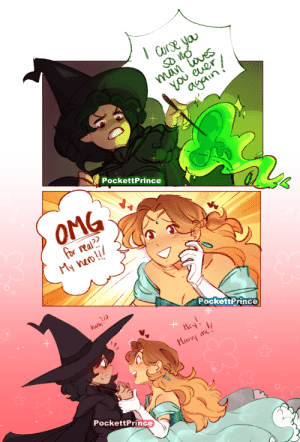 pockettprince:  so a witch curses a princess that wronged her but… aqua © @parfaitperi : PockettPrince  OMG  for real  My nao!!  PockettPrince  wh  Mar me  PockettPrince pockettprince:  so a witch curses a princess that wronged her but… aqua © @parfaitperi