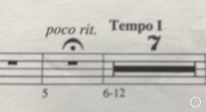 This is why no one plays bass: poco rit. Tempo I  5.  6-12 This is why no one plays bass