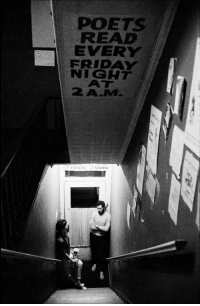 Friday, New York, and Tumblr: POETS  READ  EVERY  FRIDAY  NIGHT  AT  2A-M  VENING MORNING punlovsin:  Seven Arts Cafe, New York City, 1959.