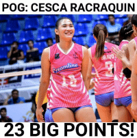 Pog, The Game, and Best: POG: CESCA RACRAQUIIN  mline  23 BIG POINTS. Maganda na, magaling pa! Best Player of the Game: Cesca Racraquin with 23 big points (22 attacks, 1 block)  Photo Credits to: DJBianca Frost Photography