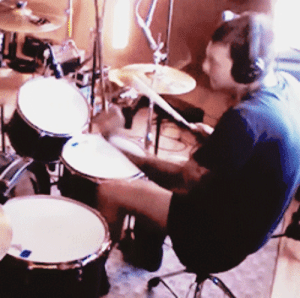 poiisons:  frankieromustdie: here's me tracking the drums for Joyriding in my underwear : poiisons:  frankieromustdie: here's me tracking the drums for Joyriding in my underwear