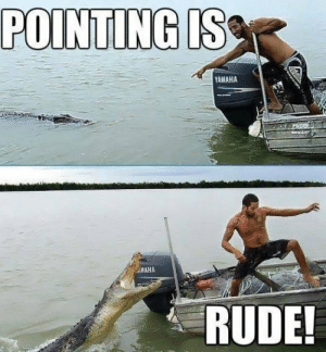 Pointing is RUDE!! by reelfishybloke FOLLOW 4 MORE MEMES.: POINTING IS  YAMAHA  AMAHA  RUDE! Pointing is RUDE!! by reelfishybloke FOLLOW 4 MORE MEMES.