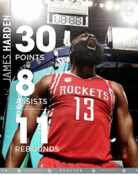 James Harden, Memes, and John Stockton: POINTS  ROCKETS  SISTs  REBOUNDS  H O U S T O N James Harden leads the NBA in double-doubles this season (44).  No guard has done that for an entire season since John Stockton in 1994-95.