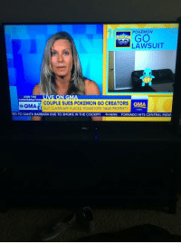POKEMON  GO  LAWSUIT  ON  JOIN THE  CONVERSATION  COUPLE SUES POKEMON GO CREATORS  GMA  a GMA.  f SUIT CLA Ms App PLACED POKESTOPs NEAR pROPERT  TED TO SANTA BARBARA DUE TO SMOKE IN THE COCKPIT  NEWS TORNADO HITS CENTRAL INDIA Good Morning America used the Backrrom Casting Couch set in a segment about Pokemon Go (repost because removed from Mildly interesting)