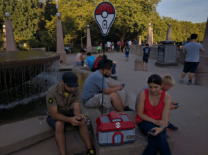 pokemon-gogogo:  Saw this homemade Pokecenter charging station in Bellevue Square Park tonight.POKEMONFANS.NET: pokemon-gogogo:  Saw this homemade Pokecenter charging station in Bellevue Square Park tonight.POKEMONFANS.NET