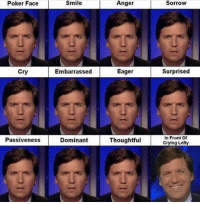 Passiveness: Poker Face  Cry  Passiveness  Smile Anger  Sorrow  Surprised  Embarrassed  Eager  In Front Of  Dominant  Thoughtful  Crying Lefty