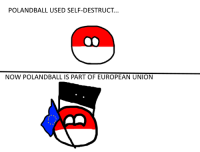 Context: Self-Destruct is an attack from Voltorb the pokemon that is similar to Polandball   GIBSEA: POLANDBALL USED SELF-DESTRUCT.  NOW POLANDBALL IS PART OF EUROPEAN UNION Context: Self-Destruct is an attack from Voltorb the pokemon that is similar to Polandball   GIBSEA