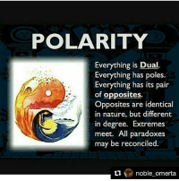 Repost @noble_omerta with @repostapp ・・・ Yin and yang ...the good and bad in everyone but most people don't act on the band thought of because of discipline...some form of restraint: POLARITY  Everything is Dual  Everything has poles.  Everything has its pair  of opposites.  Opposites are identical  in nature, but different  in degree. Extremes  meet. All paradoxes  may be reconciled.  noble omerta Repost @noble_omerta with @repostapp ・・・ Yin and yang ...the good and bad in everyone but most people don't act on the band thought of because of discipline...some form of restraint
