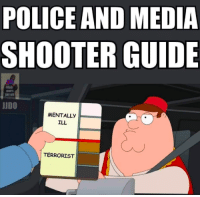 Come on then, stab me: POLICE AND MEDIA  SHOOTER GUIDE  OHITS  JUDO  MENTALLY  ILL  TERRORIST Come on then, stab me