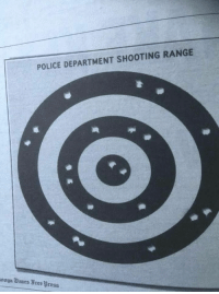 POLICE DEPARTMENT SHOOTING RANGE  nnga Tines ree Wress Target practice