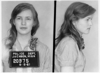 This is Joan Trumpauer Mulholland. This is her mugshot from when she was arrested in 1961 for protesting segregation. Her family disowned her for her activism. After her first arrest, she was tested for mental illness, because Virginia law enforcement couldn't think of any other reason why a white Virginian girl would want to fight for civil rights. I've been thinking about history class a lot lately. I think almost every white person I know has at least *thought* that they would have been like Joan. We would have had black friends and marched for civil rights and supported MLK and protected little Ruby Bridges as she walked into an all-white school... And then I think of Philando Castile. And Eric Garner. And Tamir Rice. Mike Brown. Oscar Grant. Alton Sterling. Freddie Gray. Sandra Bland. John Crawford. Jordan Davis. Trayvon Martin. I think of how their families will never see justice because the system was not built to protect them. I think of how white terrorists and rapists are safer in this country than black folks who are just existing. I think of how easily people justify their murders. And I think of how simple it is for me- a white person with more privilege than I'll ever fully understand- to turn off the news, to go for a walk... to just not think about this anymore. My whole point comes down to this: My fellow white people- if you think you would have done something *then*, but are doing nothing *now*, then you wouldn't have done anything *then*, either. So think about what side of history you want to be on, because now's the time for doing something.: POLICE DEPT.  JA C KSON, MISS  20975  6- 8.SI This is Joan Trumpauer Mulholland. This is her mugshot from when she was arrested in 1961 for protesting segregation. Her family disowned her for her activism. After her first arrest, she was tested for mental illness, because Virginia law enforcement couldn't think of any other reason why a white Virginian girl would want to fight for civil rights. I've been thinking about history class a lot lately. I think almost every white person I know has at least *thought* that they would have been like Joan. We would have had black friends and marched for civil rights and supported MLK and protected little Ruby Bridges as she walked into an all-white school... And then I think of Philando Castile. And Eric Garner. And Tamir Rice. Mike Brown. Oscar Grant. Alton Sterling. Freddie Gray. Sandra Bland. John Crawford. Jordan Davis. Trayvon Martin. I think of how their families will never see justice because the system was not built to protect them. I think of how white terrorists and rapists are safer in this country than black folks who are just existing. I think of how easily people justify their murders. And I think of how simple it is for me- a white person with more privilege than I'll ever fully understand- to turn off the news, to go for a walk... to just not think about this anymore. My whole point comes down to this: My fellow white people- if you think you would have done something *then*, but are doing nothing *now*, then you wouldn't have done anything *then*, either. So think about what side of history you want to be on, because now's the time for doing something.
