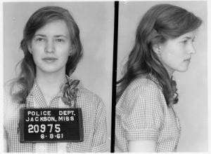 "attackoftheskydancers: vintageeveryday:   Mugshot of a teenage girl arrested for protesting segregation, Mississippi, 1961. Her name is Joan Trumpauer Mulholland. Her family disowned her for her activism. After her first arrest, she was tested for mental illness, because Virginia law enforcement couldn't think of any other reason why a white Virginian girl would want to fight for civil rights.She also created the Joan Trumpauer Mullholland Foundation. Most recently, she was interviewed on Samatha Bee's Full Frontal on February 15 for their segment on Black History Month.Don't reduce civil rights heroes to ""teenage girl"". : POLICE DEPT.  JAC KSON, MISS  20975  6. 8.61 attackoftheskydancers: vintageeveryday:   Mugshot of a teenage girl arrested for protesting segregation, Mississippi, 1961. Her name is Joan Trumpauer Mulholland. Her family disowned her for her activism. After her first arrest, she was tested for mental illness, because Virginia law enforcement couldn't think of any other reason why a white Virginian girl would want to fight for civil rights.She also created the Joan Trumpauer Mullholland Foundation. Most recently, she was interviewed on Samatha Bee's Full Frontal on February 15 for their segment on Black History Month.Don't reduce civil rights heroes to ""teenage girl""."