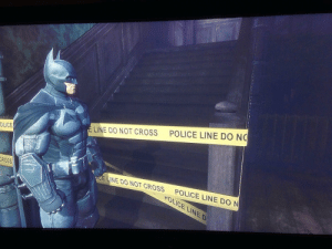 The worst kind of impenetrable wall in games.: POLICE LINE DO NO  LINE DO NOT CROSS  OLICE  ROSS  LINE DO NOT CROSS POLICE LINE DO N  POLICE LINED The worst kind of impenetrable wall in games.