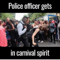 Dank, Police, and Too Much: Police officer gets  in carnival spirit Notting Hill Carnival is too much 😂😂💃