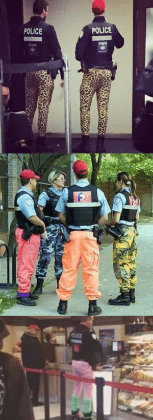 Beautiful, Fashion, and Police: POLICE  POLICE katie-and-her-fandoms:notverygoodatflyingaeroplanes:thegirlbehindthepiano:so the montreal police officers are on strike and to shame the government they decided to wear different kinds of pantsthat's so beautiful  the fashion police