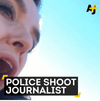 Memes, Police, and 🤖: POLICE SHOOT  JOURNALIST This journalist was shot by police with a rubber bullet while conducting an interview. #NoDAPL