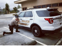 The San Bernardino County Sheriff's Department is under scrutiny for posting this photo of a Deputy praying before his shift. If you support this Deputy and his department's decision, share this.: POLICE The San Bernardino County Sheriff's Department is under scrutiny for posting this photo of a Deputy praying before his shift. If you support this Deputy and his department's decision, share this.