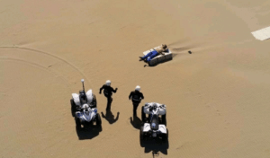 Police were called for a man breaking quarantine and going to the beach In Italy. Police drone took this pic, memes ensue.: Police were called for a man breaking quarantine and going to the beach In Italy. Police drone took this pic, memes ensue.