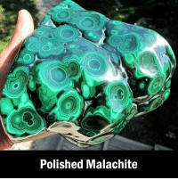 Malachite is a copper carbonate hydroxide mineral that often forms deep underground where the water table and hydrothermal fluids can form chemical precipitation 😯 (Image via @reddit): Polished Malachite Malachite is a copper carbonate hydroxide mineral that often forms deep underground where the water table and hydrothermal fluids can form chemical precipitation 😯 (Image via @reddit)