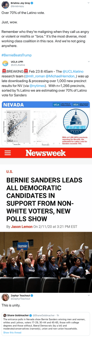 politicalsci: Bernie Sanders has won the popular vote in the first three primaries. Bernie Sanders has  been polled as the only nominee who would beat Trump. Bernie Sanders  has been polled as having the highest support among non-white voters.  Bernie Sanders has been polled as having a 12 point national lead over  all other nominees running. Bernie Sanders has been polled as having the most support among Independents and Democrats.  Every candidate, except Bernie Sanders, has said they will allow  unelected superdelegates to choose the nominee even if someone else goes  into the convention with the most delegates. They each think a brokered  convention could work in their favor. In  reality it would likely mean Biden or Bloomberg will become the  Democratic nominee and result in the complete ruination of the  Democratic Party (and Donald Trump being re-elected). In order for there  NOT to be a brokered  convention, Bernie Sanders needs to reach 1991 delegates to win the  Democratic  nomination. Please vote for Bernie!  HOW TO HELP BERNIE 2020 Send texts —> http://berniesanders.com/text  Make phone calls —> http://berniesanders.com/call  Travel to an Early State —> http://berniesanders.com/berniejourney  Download the BERN app —> http://berniesanders.app.link  Get involved —> http://berniesanders.com/volunteer Donate —> https://secure.actblue.com/donate/bern-site?refcode=splash-top-right : politicalsci: Bernie Sanders has won the popular vote in the first three primaries. Bernie Sanders has  been polled as the only nominee who would beat Trump. Bernie Sanders  has been polled as having the highest support among non-white voters.  Bernie Sanders has been polled as having a 12 point national lead over  all other nominees running. Bernie Sanders has been polled as having the most support among Independents and Democrats.  Every candidate, except Bernie Sanders, has said they will allow  unelected superdelegates to choose the nominee even if someone else goes  into the convention with the most delegates. They each think a brokered  convention could work in their favor. In  reality it would likely mean Biden or Bloomberg will become the  Democratic nominee and result in the complete ruination of the  Democratic Party (and Donald Trump being re-elected). In order for there  NOT to be a brokered  convention, Bernie Sanders needs to reach 1991 delegates to win the  Democratic  nomination. Please vote for Bernie!  HOW TO HELP BERNIE 2020 Send texts —> http://berniesanders.com/text  Make phone calls —> http://berniesanders.com/call  Travel to an Early State —> http://berniesanders.com/berniejourney  Download the BERN app —> http://berniesanders.app.link  Get involved —> http://berniesanders.com/volunteer Donate —> https://secure.actblue.com/donate/bern-site?refcode=splash-top-right