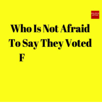 Com, Who, and They: pomco  Who Is Not Afraid  To Say They Voted Subscribe to The Political Insider: https://thepoliticalinsider.com/subscribe/