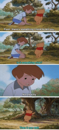 Girl Memes, Cannes, and Its Something: Pooh, there's something I have to tell you  Is it something nice?   Not exactly.  Then it cann Wait how to avoid getting your feelings hurt: a lesson from pooh