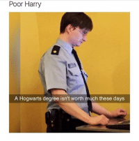1 like = 1 prayer for poor harry😭: Poor Harry  A Hogwarts degree isn't worth much these days 1 like = 1 prayer for poor harry😭