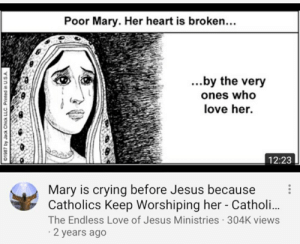 Crying, Jesus, and Love: Poor Mary. Her heart is broken...  .by the very  ones who  love her.  12:23  0  Mary is crying before Jesus because  Catholics Keep Worshiping her - Catholi..  The Endless Love of Jesus Ministries 304K views  2 years ago Protestant ASMR