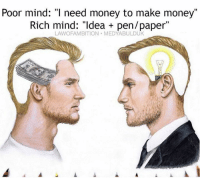 "Don't trick yourself into thinking you need money to take action. You already have the number one currency: TIME. Use it 💡: Poor mind: ""I need money to make money""  Rich mind: ""Idea pen/paper""  LAWOFAMBITION MEDYABULDUK Don't trick yourself into thinking you need money to take action. You already have the number one currency: TIME. Use it 💡"
