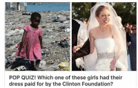 And Hillary is worried about Trump's Tax returns? ~ GATSBY: POP QUIZ! Which one of these girls had their  dress paid for by the Clinton Foundation? And Hillary is worried about Trump's Tax returns? ~ GATSBY