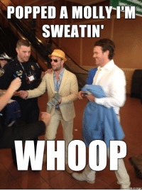 Molly, Nfl, and Imgur: POPPED A MOLLY ILM  SWEATINT  WHOOP  made on imgur Welker suspended for amphetamines.