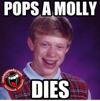 Funny, Memes, and Molly: POPS A MOLLY  comed  DIES  hood  co insta_comedy hoodcomedy hood_comedy hoodmemes
