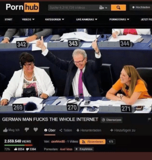 German man strikes again by Caboose_007 MORE MEMES: Porn  hub  Suche 6,216 728 Videos  Hochladen  START  VIDEOS  KATEGORIEN ▼  uVEKAMERAS ▼  PORNOSTARS  JETZT F  342  343  344  269  270  271  GERMAN MAN FUCKS THE WHOLE INTERNET übersetzen  血Mag ich  0 Über  Teilen  Heruntertaden  + Hinzufügen zu  2.559.548 VIEWS  Von: axelVosSS- 1 Videosoonieren  173  72% ds8554 3304  Pornostars: Axel Voss + Empfehlen German man strikes again by Caboose_007 MORE MEMES