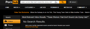 "Asian Women: Pornhub  ""asian women that dont sound like dying cats""  Upload  HOME VIDEOS  CATEGORIES ▼  LIVE SEX  PREMIUM HD  MEET&FUCK  COMMUNITY  Fake Taxi Exclusive: When the Subway Is on He Fritz, This Young Teen Gets to Ride Another Tube - WatchI  Search  Most Relevant Video Results: ""Asian Women That Don't Sound Like Dying Cats""""  a Videos  No Search Results.  Photos  We'tre sorry, but the requested search cannot be found. Broaden your search.  Return to Home Page"