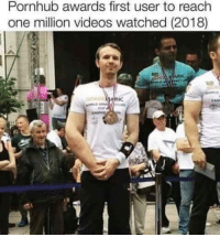 Pornhub, Videos, and Hero: Pornhub awards first user to reach  one million videos watched (2018) What a hero