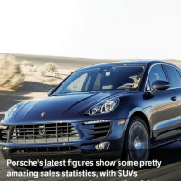 Memes, 🤖, and Commons: Porsche's latest figures show some pretty  amazing sales statistics, with SUVs Via @carthrottlenews - It's official: Porsche has become an SUV brand. Seven out of every 10 cars the company delivered last year were either Macans or Cayennes. - The company has released its annual financial reports, showing that it delivered a record 237,778 cars in 2016. Of those, some 166,509 were made up of the Cayenne and Macan ranges, with the 911, Boxster, Cayman and Panamera ranges accounting for just 71,475 combined. - These numbers make astonishing reading, and it's the Macan that's chiefly responsible. In 2013, the last full year before the model's launch, the Cayenne outsold all other Porsches combined, but only by a few thousand units. In 2016, with Cayenne sales down over 10,000 versus 2013, the Macan has taken Porsche's SUV division stratospheric with sales of over 95,000. - It's worth noting, of course, that Porsche SUVs aren't your usual wallowy, slow, boring affairs, or even your less common over-stiffened 'sporty' SUV. They are genuinely lovely cars, and while their height and weight means they can never handle like one of the brand's sports cars, they do still go around corners rather well. - It is, of course, fantastic news for the brand. The SUVs are extremely profitable and the company's coffers must look something like the inside of Scrooge McDuck's vault. You can just picture the executives swimming in a sea of gold coins… - It's also good news elsewhere for Porsche. Its overall 911 sales are up a tiny bit, and the same goes for the Boxster and Cayman, despite criticism of their new four-cylinder turbocharged engines. Panamera sales are slipping, having been on a downward trend ever since the Macan was launched. It's clear from the numbers that the Macan is stealing sales from both the Panamera and the Cayenne. - SUV dominance is actually good for 'the other 30 per cent'. With so much money rolling in, Porsche can afford to keep making ama
