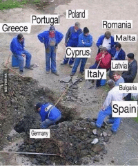Germany, Greece, and Portugal: Portugal Poland  Greece  Romania  Malta  Cyprus  Cvprus  Latvia  Ital  Bulgaria  Bulgaria  Spain  Germany ^^