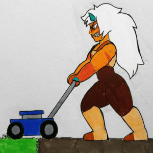 poshtearexdoodles:  I know she ripped the grass out with her bare hands, but the idea of her just angrily using a lawnmower is hilarious to me.Also who else is excited for her return tonight!? :D: poshtearexdoodles:  I know she ripped the grass out with her bare hands, but the idea of her just angrily using a lawnmower is hilarious to me.Also who else is excited for her return tonight!? :D