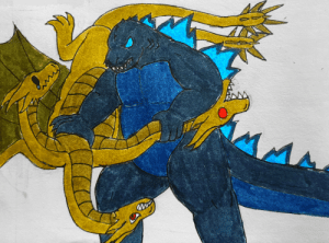 poshtearexdoodles:  So turns out Haruo Nakajima, the first actor of Godzilla, was a black belt in judo and used these skills when portraying kaiju fights as Godzilla. This inspired me to draw Godzilla judo tossing the hecc out of Ghidorah.: poshtearexdoodles:  So turns out Haruo Nakajima, the first actor of Godzilla, was a black belt in judo and used these skills when portraying kaiju fights as Godzilla. This inspired me to draw Godzilla judo tossing the hecc out of Ghidorah.