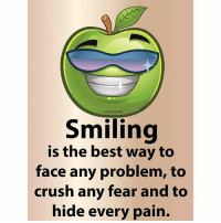 Memes, 🤖, and King: positive result  Smiling  is the best way to  face any problem, to  crush any fear and to  hide every pain. tag someone Check out all of my prior posts⤵🔝 Positiveresult positive positivequotes positivity life motivation motivational love lovequotes relationship lover hug heart quotes positivequote positivevibes kiss king soulmate girl boy friendship dream adore inspire inspiration couplegoals partner women man