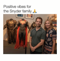 """Family, Life, and Memes: Positive vibes for  the Snyder family Zack Snyder has stepped down from Justice League due to his daughter's suicide which happened back in March. And, was kept private. Joss Whedon; yes, you read that correctly, is said to finish the movie. Heartbreaking stuff. Especially for someone who is so passionate about bringing superheroes to life. If you've ever experienced a tragedy, you try anything and everything to make things go back to """"normal."""" But sometimes you just can't. Positive vibes for him, his wife, and the rest of his family. 🙏😔 [Thank you @ThatOneSharkGuy for breaking the news to me]"""