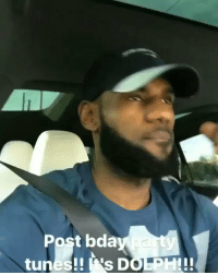 Birthday, LeBron James, and Memes: Post bda  tunes!! 's DOLPH!! LeBron James jammin out to Young Dolph after his daughters birthday party today! 🐬👍💯 @KingJames @YoungDolph https://t.co/zQNrEEG5M7