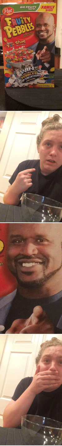 Family, Memes, and Shaq: Post  BIG FRUITY  FAMILY  SIZE  TASTE!  PEBBLES  PEBBLES  CATION  AND MORE yes shaq https://t.co/e6Q7gyqO6k