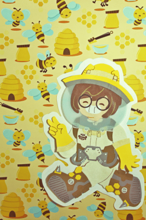 Love, Tumblr, and Blog: postaza:Paper cut Mei! I love this skin so much    ( ˘ ³˘)♥