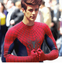 Love, Memes, and Photoshop: Posted this last year, but goodness I love this photoshop edit had to post it again. Grant Gustin as Spider-Man. grantgustin grantgust theflash cwtheflash barryallen dccomics comics comicbooks entertainment tv tvseries tvshow thecw cw spiderman