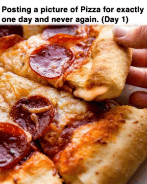 Life-time experience: Posting a picture of Pizza for exactly  one day and never again. (Day 1) Life-time experience