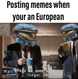 Memes, Shit, and Dank Memes: Posting memes when  your an European  Wait. This is some serious  serro  illegal. shit, Check out my mixtape